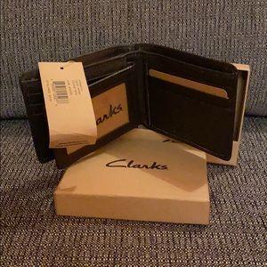 Clarks men's leather wallet